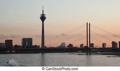 The Skyline of D?sseldorf on the Rhine