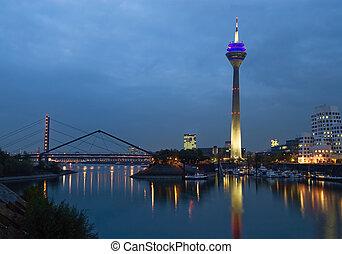 Dusseldorf Media Harbor at Night