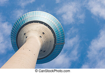 dusseldorf Rhine tower - Rhine tower (Rheinturm) in...