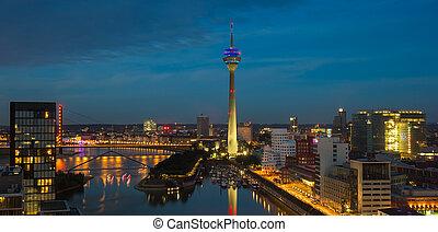 Dusseldorf Skyline night Skyline