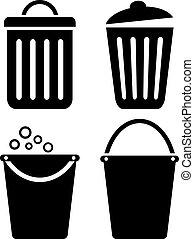 Dust bin vector icon