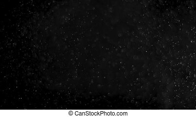Dust Cloud Isolated Black Background Bubble Bokeh