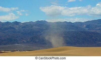 Dust Devil Death Valley - Large dust devil on the Mesquite...