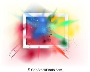 dust., explosión, fondo blanco, marco, color, polvo