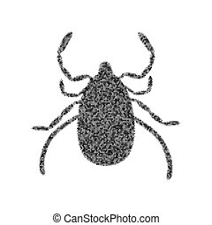 Dust mite sign illustration. Vector. Black icon from many...