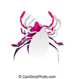Dust mite sign illustration. Vector. Detachable paper with...