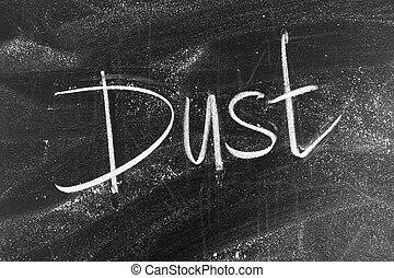 Dust on blackboard