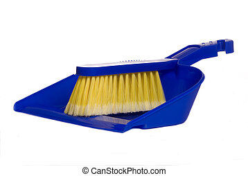 Dust Pan - A blue dust pan isolated on a white background
