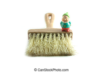 dust Pan and bearded dwarf - A dust pan and bearded dwarf...