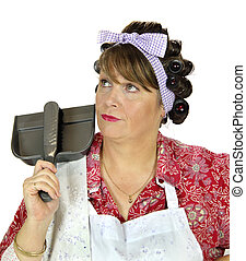 Dust Pan Housewife - Middle aged frumpy house looks forlorn...