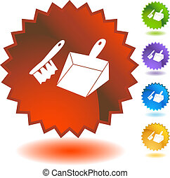 Dust Pan Icon - Dust pan icon isolated on a white...