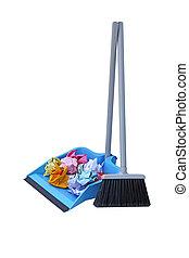 Dust Pan Lobby Broom - Flip lock dust pan lobby broom with ...