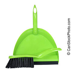 Dust Pan on White Background