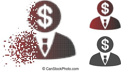 Dust Pixel Halftone Banker Icon