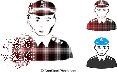 Dust Pixel Halftone Evil Army General Icon