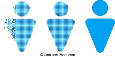 Dust Pixel Halftone Man Icon
