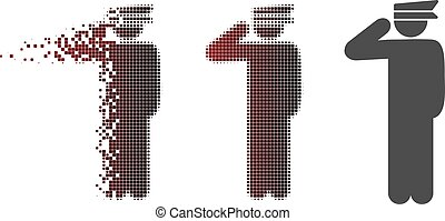 Dust Pixel Halftone Police Officer Icon