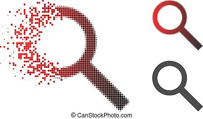 Dust Pixel Halftone Search Icon