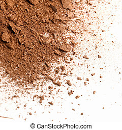Dust of a make-up face powder