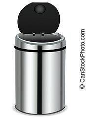 dustbin - illustration of dust bin on white background