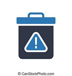 dustbin glyph color icon
