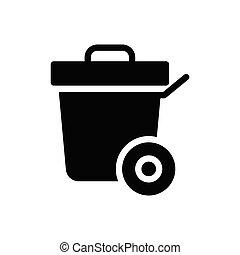 dustbin  glyph flat icon