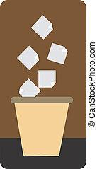 Dustbin - Illustration of a symbol of dumping point
