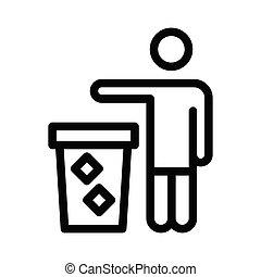 dustbin thin line icon