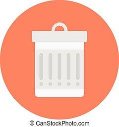 dustbin vector flat icon