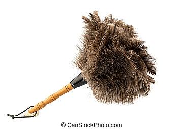 duster against white background - a feather duster against...