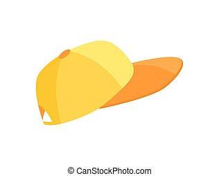 dustmans, pet, uniform, helder, deel, sinaasappel