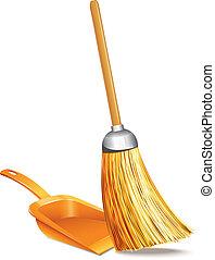 dustpan, 扫帚