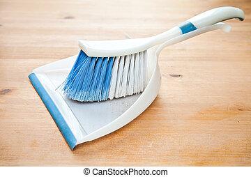 Dustpan and brush