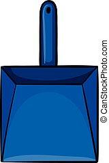 Dustpan - Close up simple blue dustpan