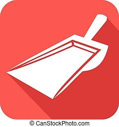 dustpan flat icon