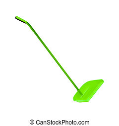 dustpan for cleaning on white background