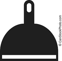 Dustpan simple vector icon isolated on white background