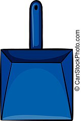 Dustpan - Close up simple blue dustpan