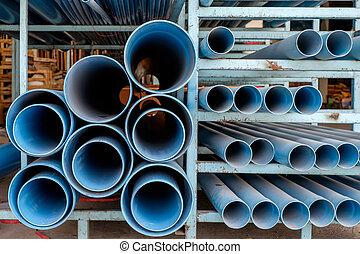 Dusty blue pipe pvc