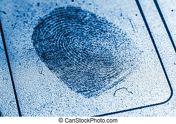 Dusty Fingerprint Record - Concept image of a dusty ...