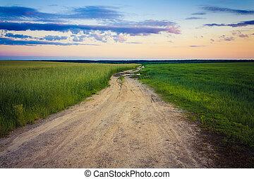 Dusty road