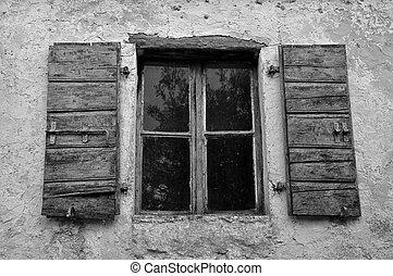 dusty window