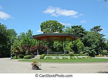 duszny, park miasto, lato