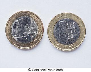 Dutch 1 Euro coin