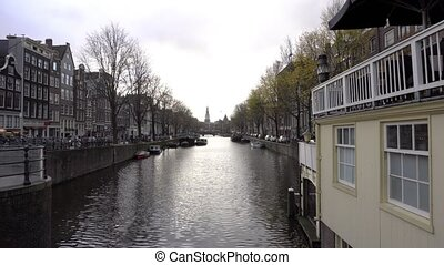 Dutch Bike Chained over the Canals - Dutch bike chained over...