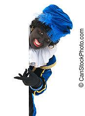 Dutch black pete with white board - Dutch character as black...