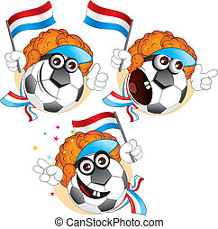 Dutch cartoon ball - Cartoon football character emotions-...