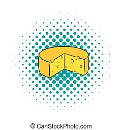 Dutch cheese icon, comics style