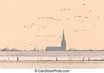 Dutch church in winter