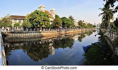 Dutch colonial architecture in Kota, Jakarta, Indonesia - ...
